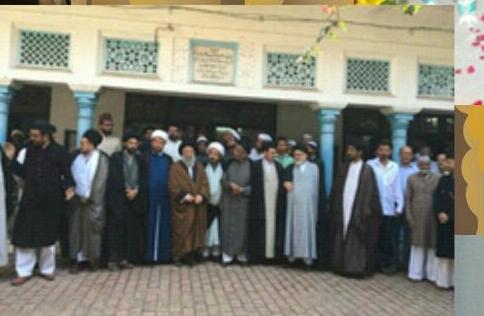 بازدید از مدرسه ناظمیه و شرکت در جلسه روحانیون و طلاب شهر لکهنو