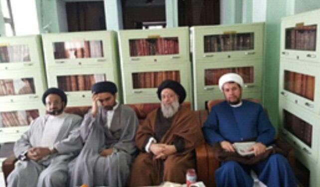 حضور حضرت آیت الله موسوی جزایری در منزل حجت الاسلام سعید عبقاتی ، در لکهنو