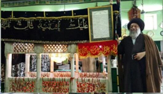 حضور  حضرت آیت الله موسوی جزایری در آرامگاه شهید ثالث در شهر آگرا