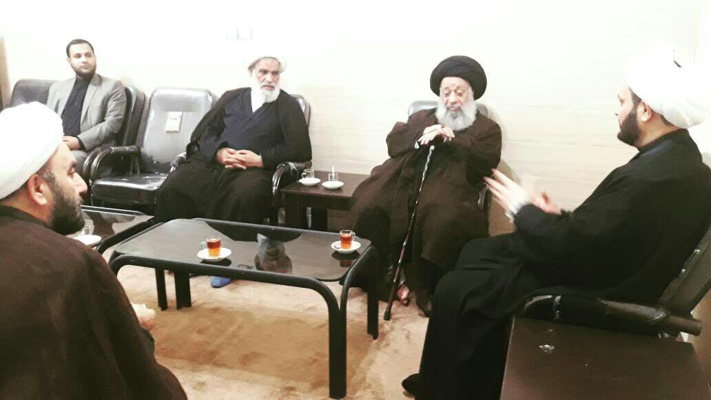 دیدار دبیر کل حرکت نجباء عراق با آیت الله موسوی جزایری