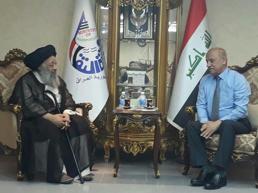 نشست جداگانه با وزیر حمل و نقل و رئیس فرودگاه های عراق