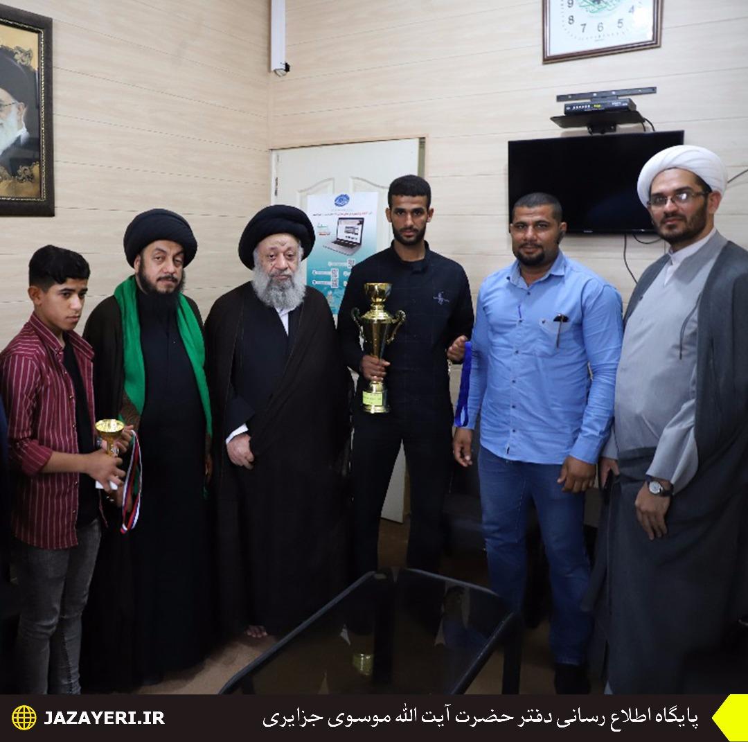 آیتالله موسوی جزایری از قهرمانان مسابقات کیوکوشین کاراته تقدیر کرد